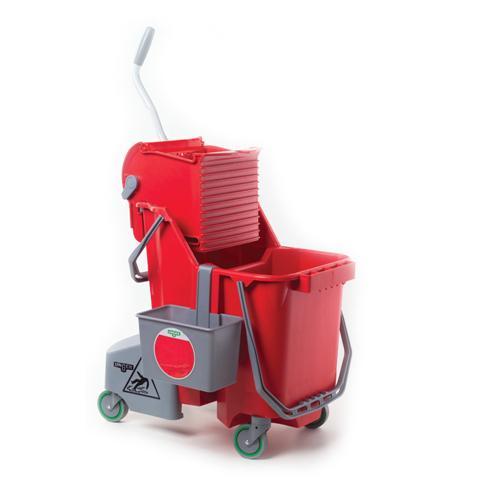 Takarító kocsi, piros, komplett | Űrtartalom: 30l | Kódszám COMBR | Bruttó ár: 71.173 Ft